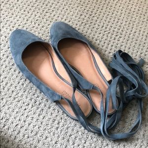 Madewell tie up suede shoes